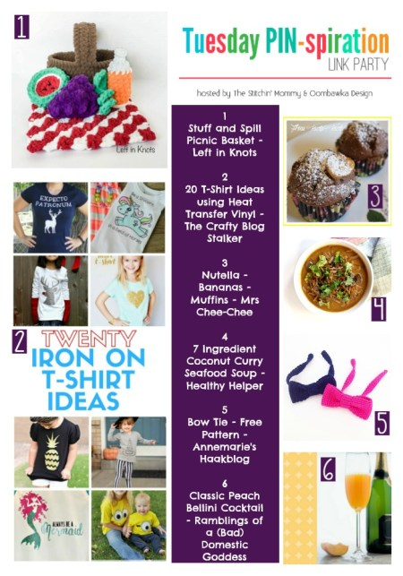 The NEW Tuesday PIN-spiration Link Party Week 10 (9/5/2016) - Rhondda and Amy's Favorite Projects   www.thestitchinmommy.com