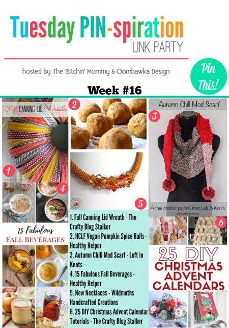 The NEW Tuesday PIN-spiration Link Party Week 16 (11/14/2016) - Rhondda and Amy's Favorite Projects | www.thestitchinmommy.com