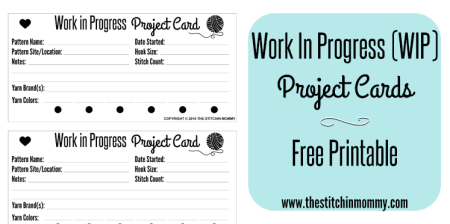 Work in Progress Project Cards - Free Printable | www.thestitchinmommy.com