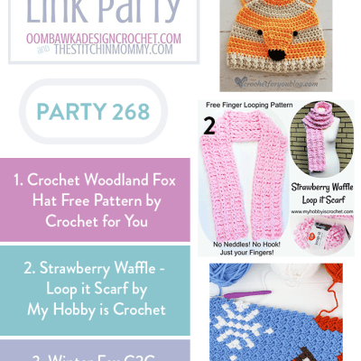 The Wednesday Link Party 268 featuring Crochet Woodland Fox Hat