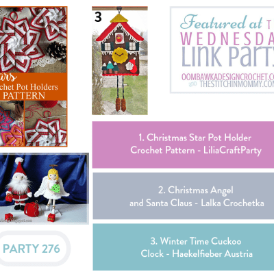 The Wednesday Link Party 276 featuring Christmas Star Pot Holder
