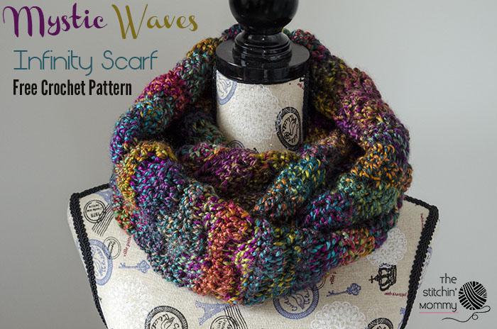 Mystic Waves Infinity Scarf Free Crochet Pattern The Stitchin Mommy