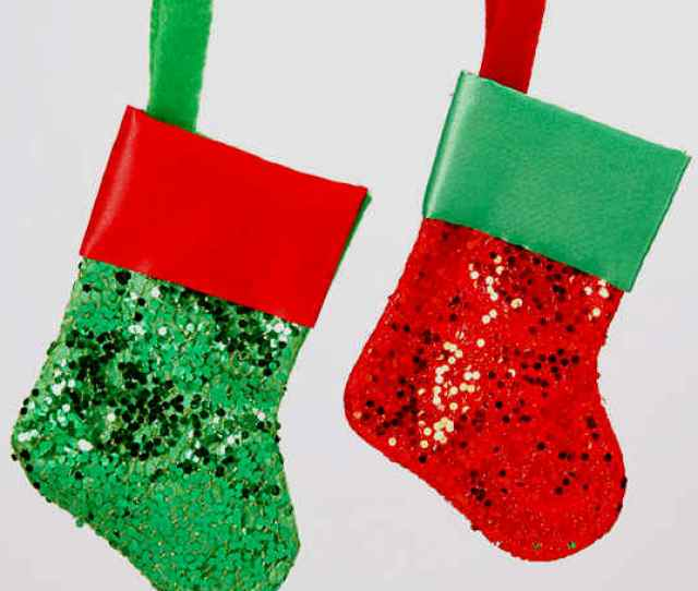 Fancy Small Christmas Stockings Metallic