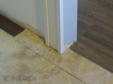vinyl plank flooring cut around door