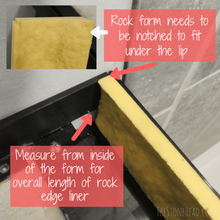 how to make a concrete countertop with rock finish