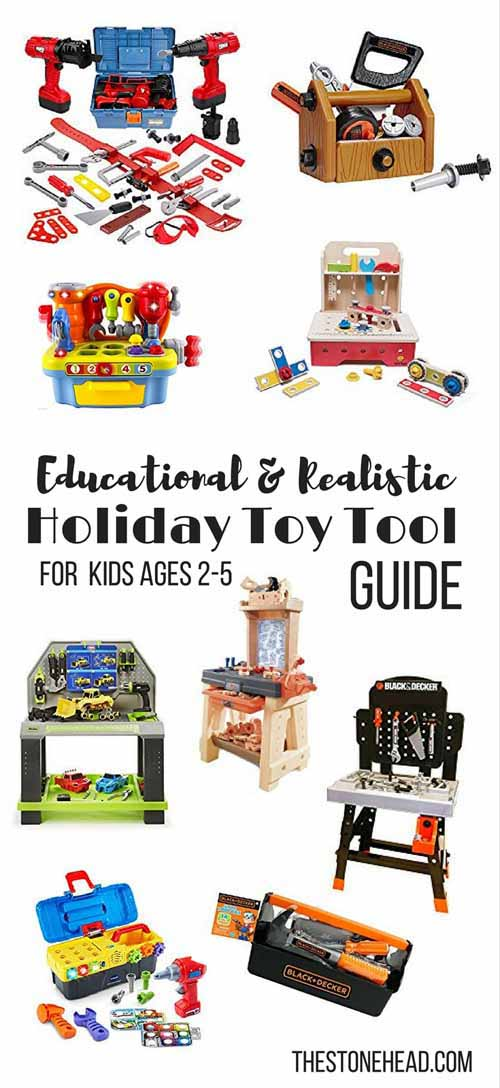 Holiday Toy Tool Guide | 2-5(ish) Year Old Toolboxes and Workbenches