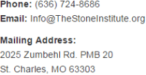 Contact The Stone Institute LLC