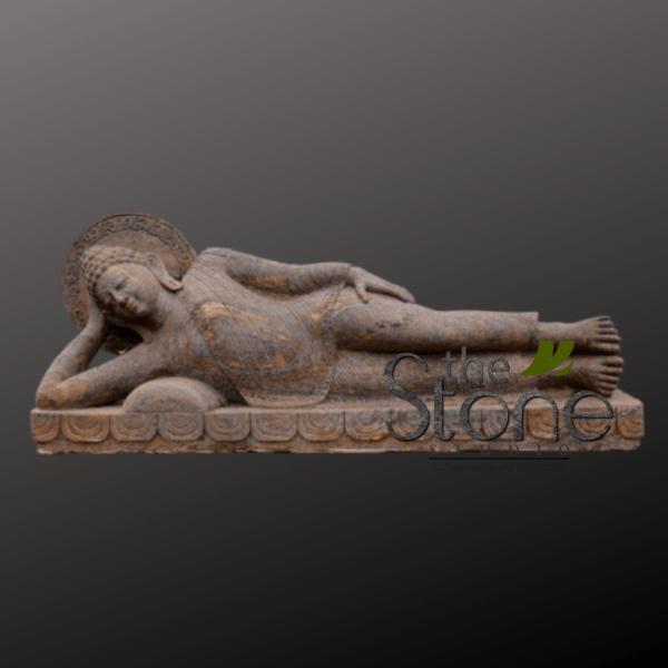 Sleeping Buddha Statue in Sandstone