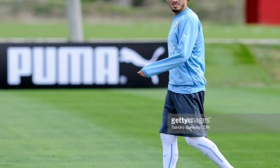 Martin Caceres of Uruguay looks on during a training session at Complejo Uruguay Celeste on October 09, 2015 in Montevideo, Uruguay.
