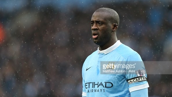 MANCHESTER, ENGLAND - FEBRUARY 06: Yaya Toure of Manchester City during the Barclays Premier League match between Manchester City and Leicester City at the Etihad Stadium on February 06, 2016 in Manchester, England. (Photo by Matthew Ashton - AMA/Getty Images)
