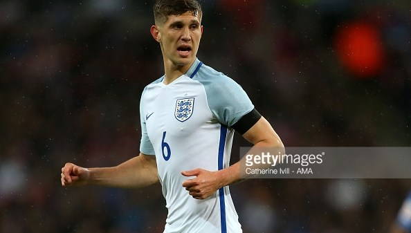 WEMBLEY, ENGLAND - MARCH 29: John Stones of England during the international friendly between England and Netherlands at Wembley Stadium on March 29, 2016 in London, England. (Photo by Catherine Ivill - AMA/Getty Images)