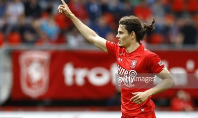 Enes Unal of FC Twente scoredduring the Dutch Eredivisie match between FC Twente and FC Groningen at the Grolsch Veste on May 14, 2017 in Enschede, The Netherlands(Photo by VI Images via Getty Images)