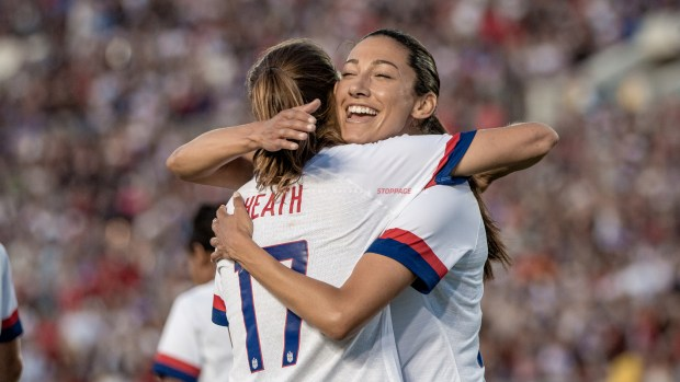 USWNT Christen Press Tobin Heath