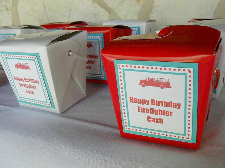 Fireman Birthday Party Favors