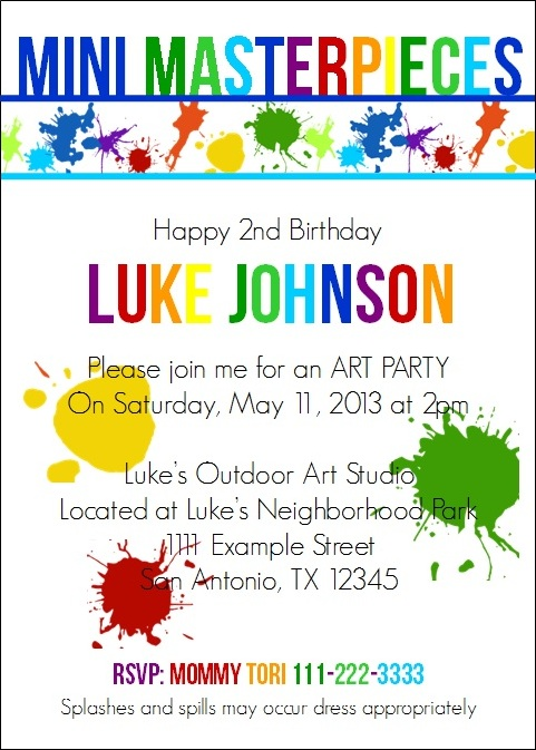 Art Party Invite for blog post