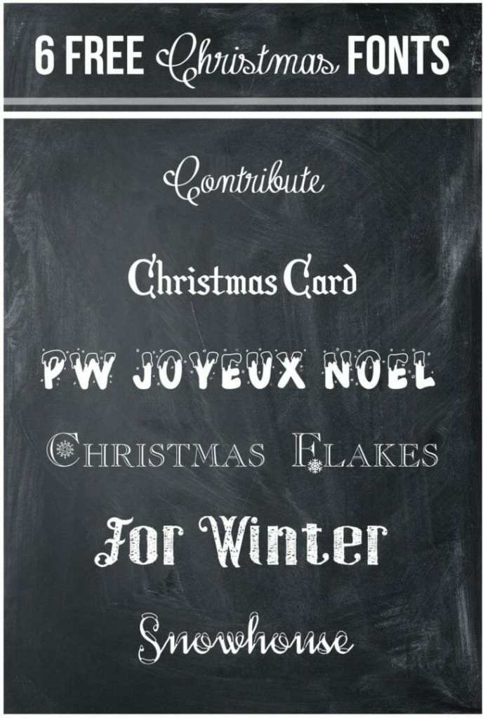 Free Christmas Fonts The Storibook