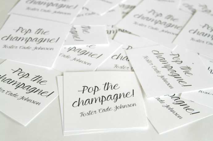 DIY champagne favors