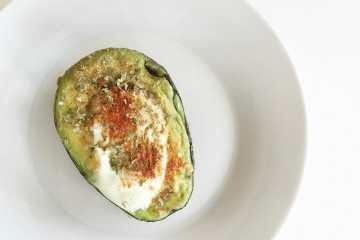 baked avocado egg bowl
