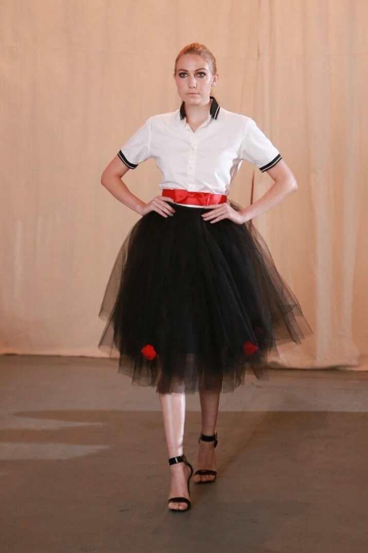 leighton w couture tulle skirt