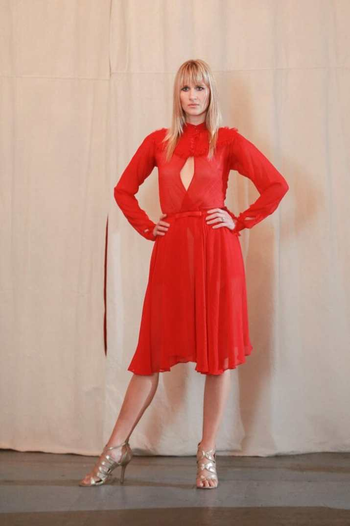 leighton w couture red dress