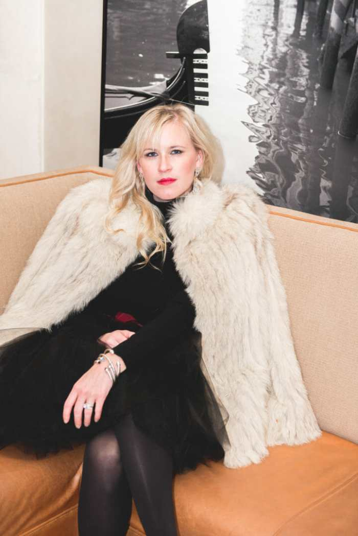 how to wear a vintage fur coat