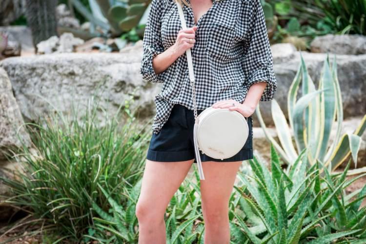 round white handbag