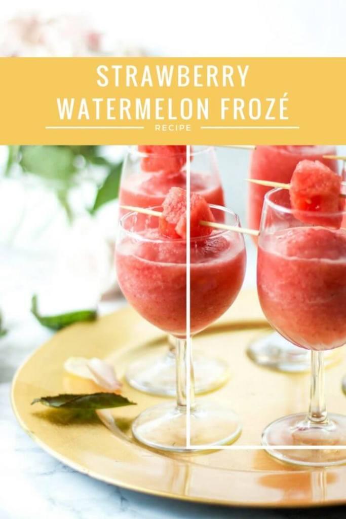 Strawberry Watermelon Frozé