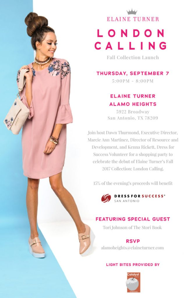 INVITE: Elaine Turner Fall Launch + Dress For Success Fundraiser ...