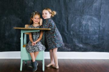 Little Girls Back-To-School Style With Frankie & Fern