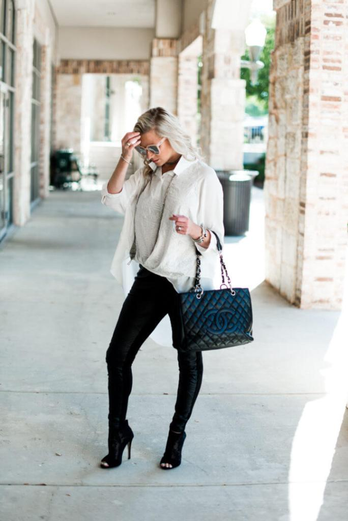 How To Wear Leather Leggings in the Fall