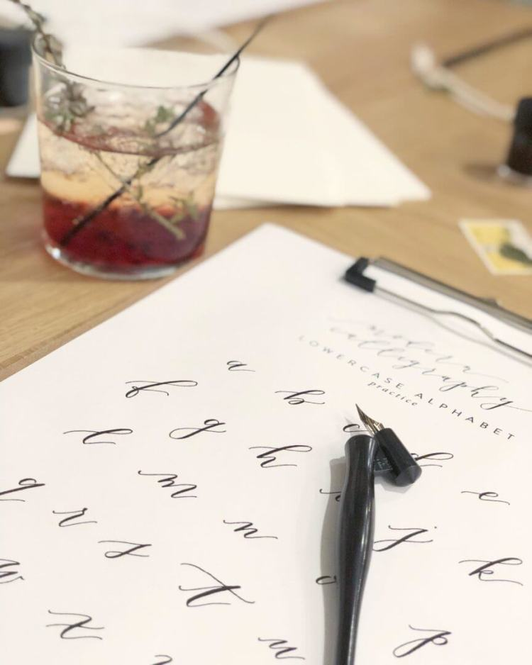 calligraphy writing class