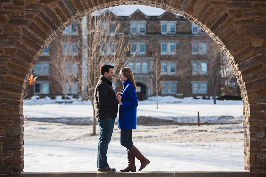 Reagan Amp Dans Hamilton College Engagement Photos