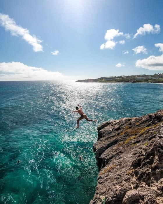 Kauai jump Hawaii
