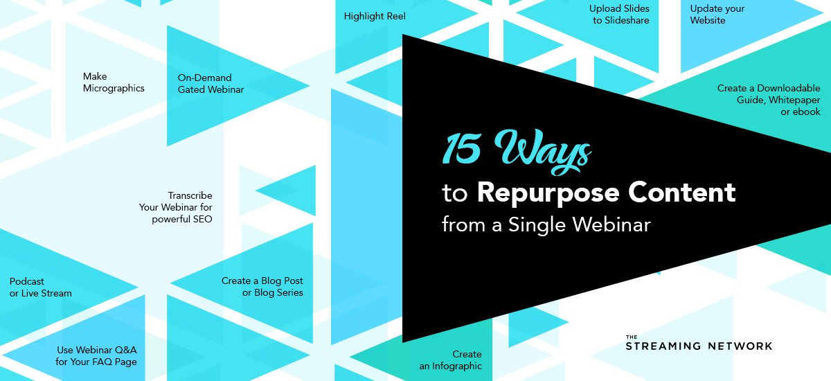 15 Ways to Repurpose Content from a Single Webinar