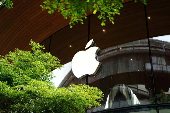 Figure 1: Apple logo in a store.