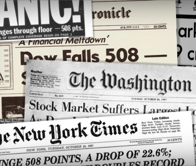 Biggest Stock Market Crashes In History Thestreet