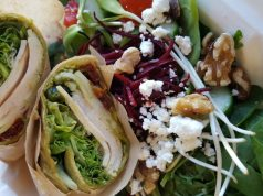 Chicken Pesto Wrap and Beet Salad