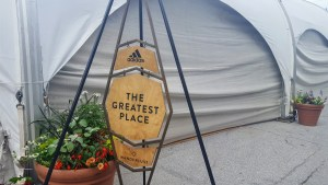 Wanderlust - The Greatest Place sign