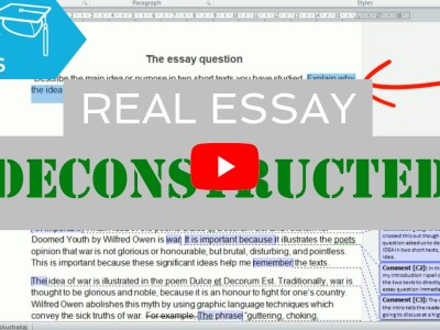 real high school exam essay