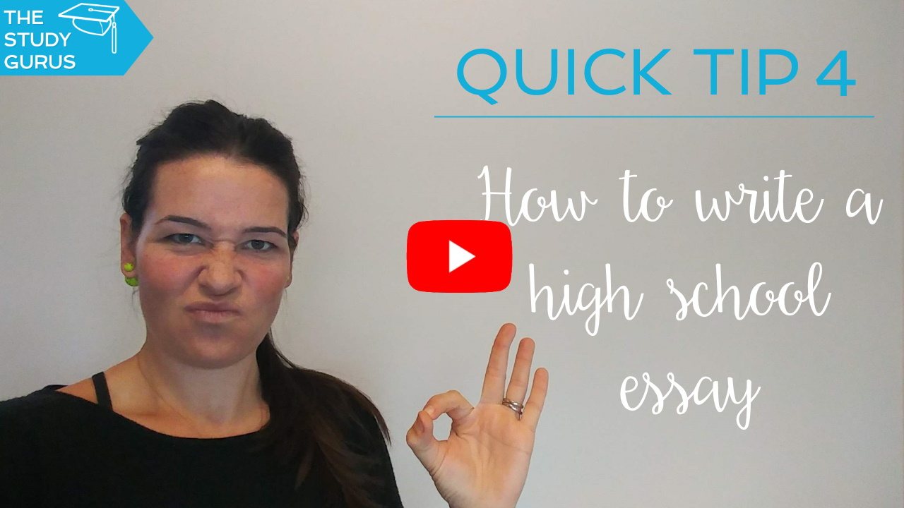 Video — Quick Tip 4 | How to write high school essays