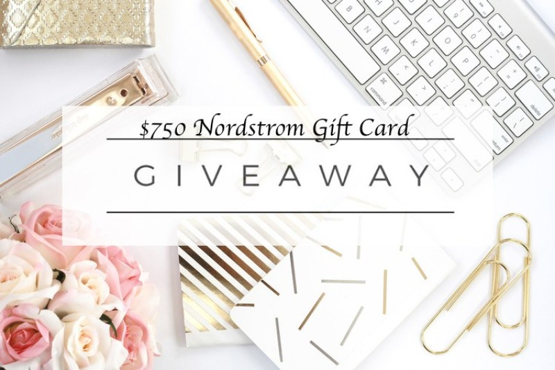 a $750 Nordstrom Gift Card, just in time to shop for the holidays!