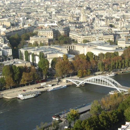 Paris view river seine