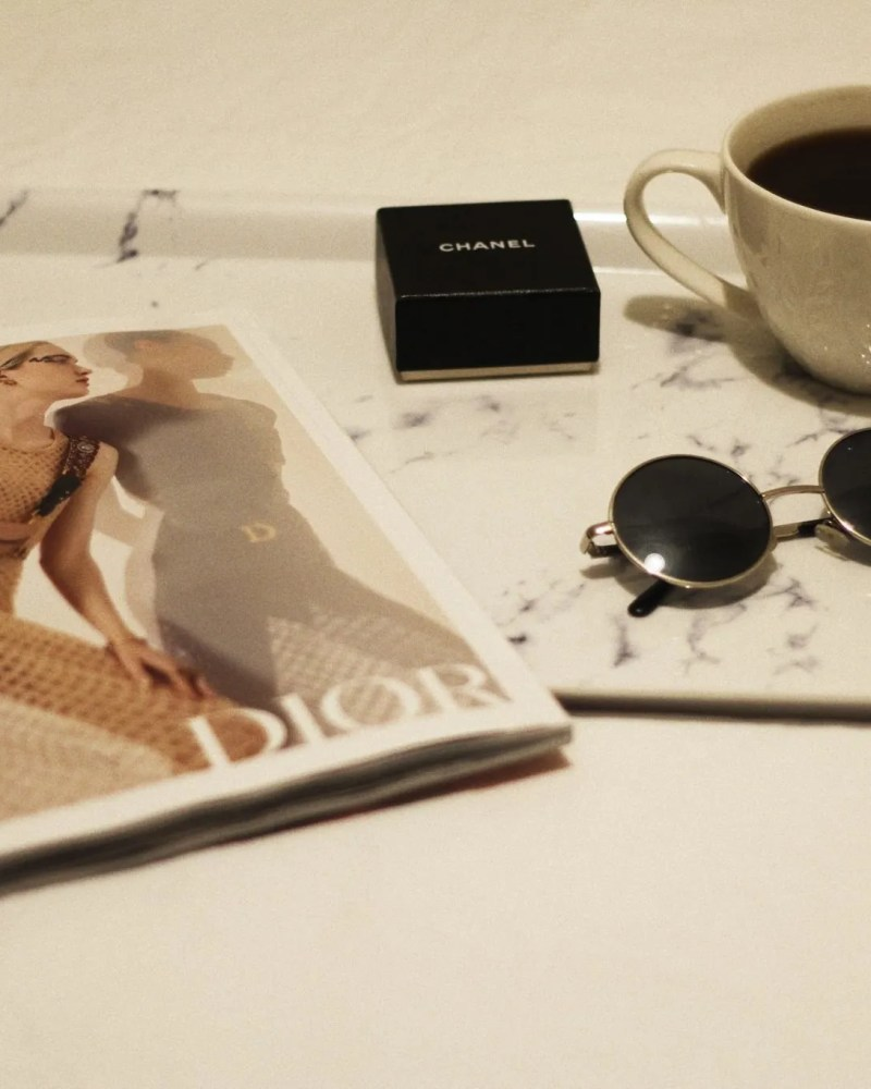 Laser hair removal - coffee and magazine - The Stle of Laura Jane