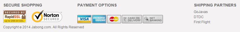 Jabong safe online payment options