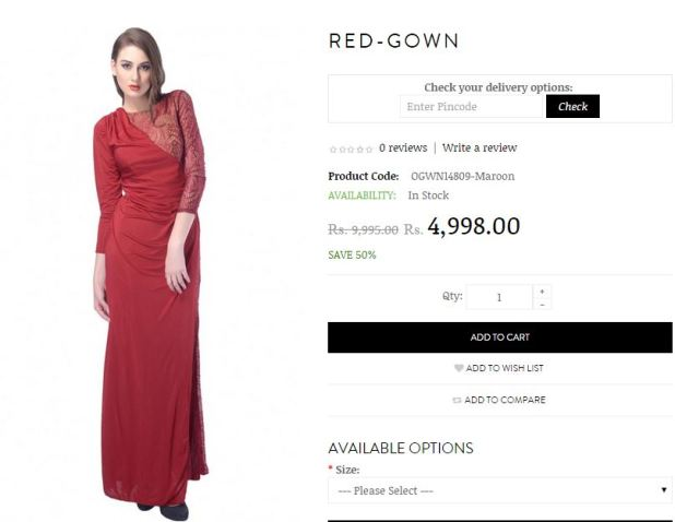 trendy divva red gown