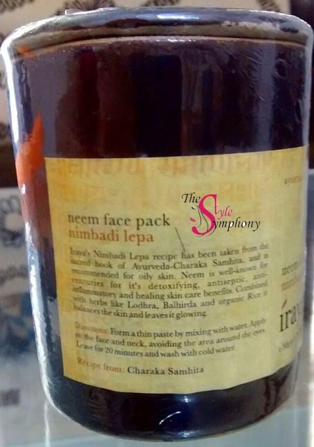 Iraya neem face pack