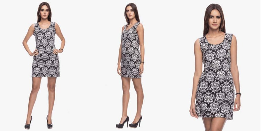 graphic sheath dress