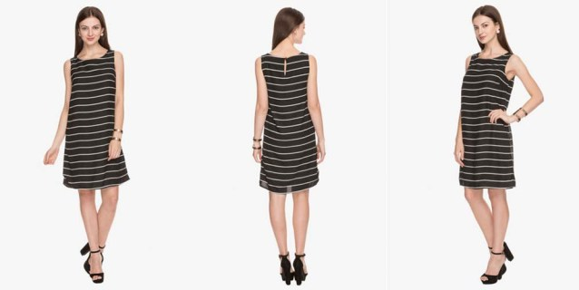 striped monochrome dress