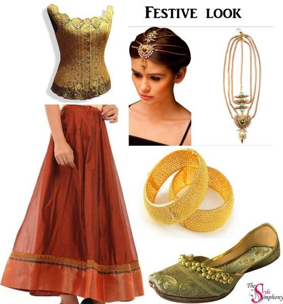 festive look long skirts BIBA