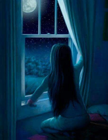 स्याह रात का चाँद